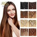 Clip In Human Hair Extensions 7Pcs/8pcs set Clip In Hair Extensions Brazilian Straight Human Hair Clip In Hair Extensions 100g