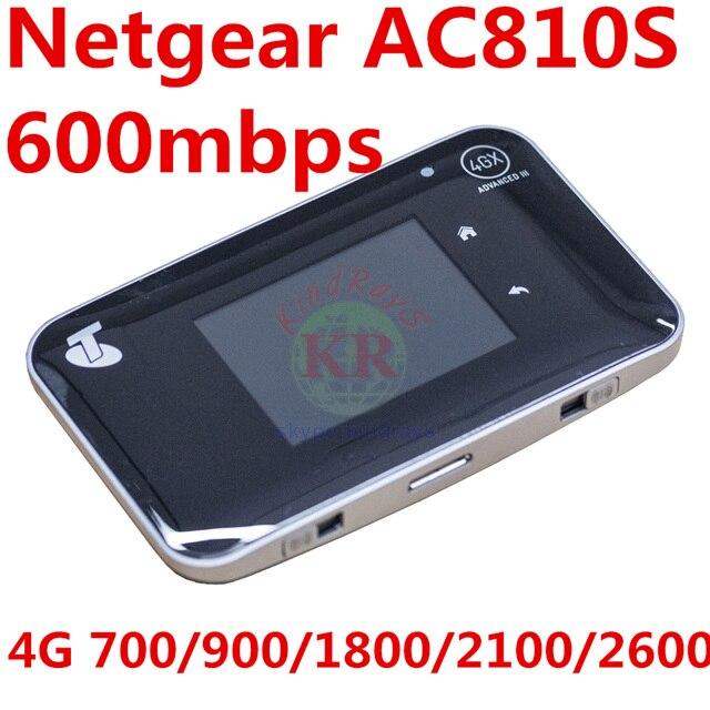 DÉBLOQUÉ 4 3gwifi 600 mbps Netger AirCard 810 s ac810s cat6 4g wifi routeur mifi dongle 4g routeur aircard 810 s pk ac782s 760 s ac790s