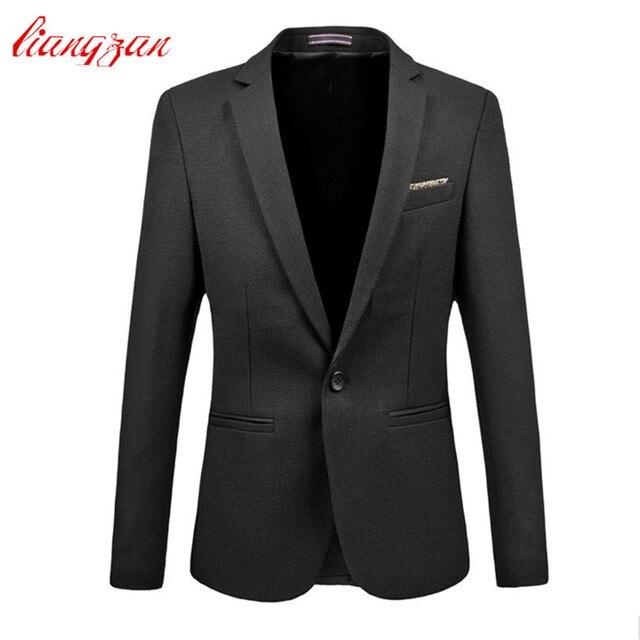 Для мужчин Блейзер костюм мода Slim Fit Марка Дизайн плюс Размеры M-6XL костюм пиджак мужской цвет: черный, синий Бизнес Повседневное пиджак v00