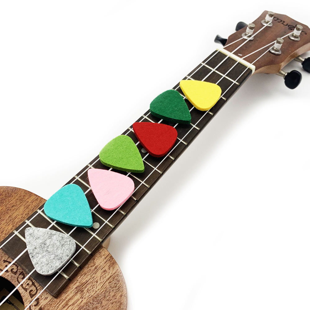 SLOZZ Soft Felt Ukulele Pick 5 Pieces Pack