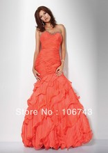 free shipping 2013 best seller new style  seiier Sexy bride wedding Custom size beading pleat party dress