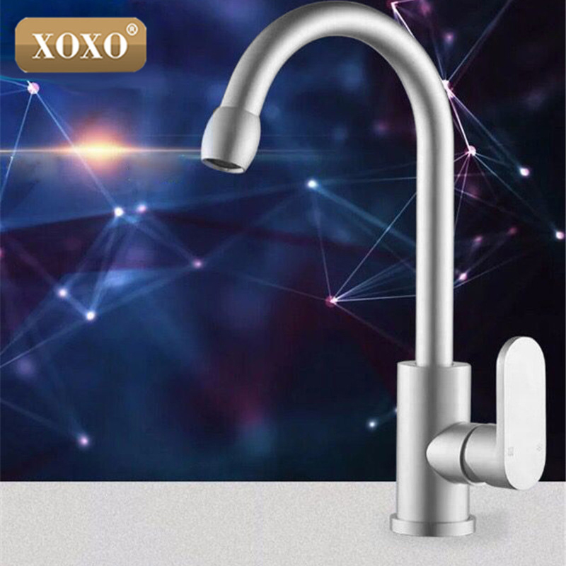 XOXO Classic Space Aluminum Kitchen Faucet Rotate The Cold And Hot Water Kitchen Faucet Mixe Rotate 360 Degrees Mixer Tap 87011