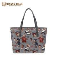 DANNY BEAR Women Fashion Handbag Large Causal Tote For Ladies Teenage Girls Vintage School Shoulder Bags Brand Designer Handbags