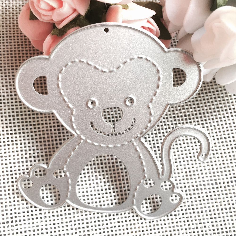 Monkey Scrapbook DIY Album Card Paper Card Maker Metal Die Cut Stencil Decoration Dies Craft Cutting Dies TemplateI Crafts