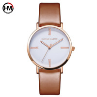 Hannah Martin New Women Fashion Top Luxury Brand Quartz Sk Clock Relogio Feminino Ladies Rose Gold