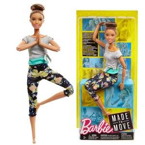 Image 3 - 7 stil Original Barbie Mode Trends Blume Hosen Yoga Puppe Alle Gemeinsamen Bewegung Gymnastik Tänzerin Maß Zu Bewegen Barbie Puppe spielzeug