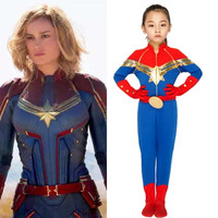 S XXL Girls Captain Marvel Cosplays kids Children Halloween The Avengers costumes Carnival Purim Parade stage play Party dress