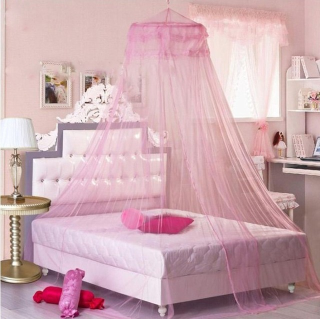 Hot Sale Elegant Lace Bed Canopy Mosquito Net white/light yellow/pink/violet & Hot Sale Elegant Lace Bed Canopy Mosquito Net white/light yellow ...