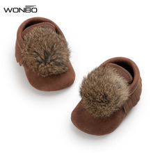 WONBO 2018 Winter New Baby Prewalker Shoes Cute Ball