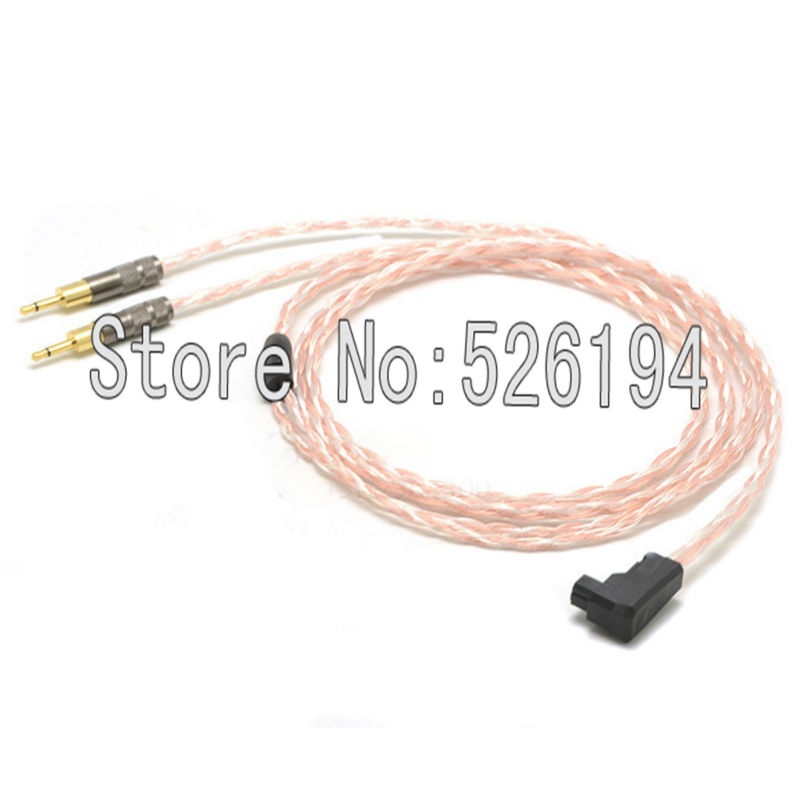 Free shipping RSA/ALO to 2.5mm plugs 5N pure copper OFC Cable For HD700 Headphone cable