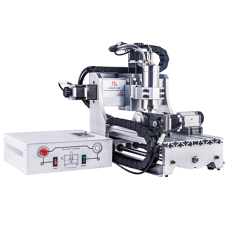 3020Z-S800 4 axis cnc router with 800W spindle ball screw mini cnc milling machine for metal wood cnc 6040z s800 router mini milling machine for metal wood polywood with usb parallel port adapter