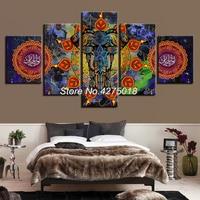 DIY Diamond Painting Cross Stitch Kits Full Diamond Embroidery 5D Diamond Mosaic Decor Mandala India Elephant 5pcs ML323
