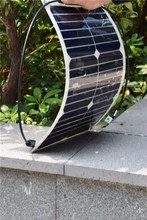 18W semi flexible solar panel made with high efficiency USA solar cell 1
