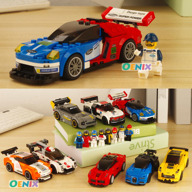 sports car roadster fords audis world famous horse brand Bugattis Veyron benz amgCompatible most brand Building Blocks gift