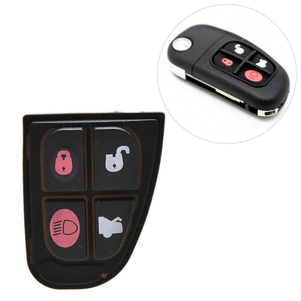 2019 Neuer Stil 1 Pcs Heißer Verkauf 4 Taste Gummi Pad Ersatz Schlüssel Fällen Für Jaguar X S Xj Xk Typ Remote Key Harmonische Farben