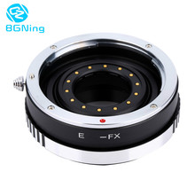 цена на Camera Lens Adapter Ring with Aperture for Canon EOS EF Mount Lens to FX for Fujifilm Fuji X-PRO1 X-E1 DSLR EF-FX Accessory