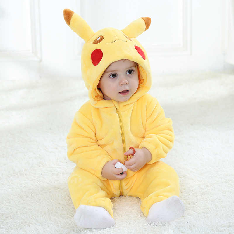 51528d95eebb Baby Rompers Baby Girl Clothes Pikachu Kigurumi Kids Onesie Anime Cosplay  Costume New Born Boy Pajama