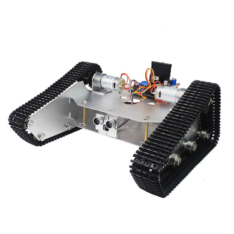 DIY Tracked Tank Chassis Kit Crawler Remote Control Robot Car with DC Motor For RC FPV Racing Camera Drone Spare Parts Acces 2 wheel drive robot chassis kit 1 deck