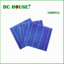 DC HOUSE 100pcs 6×6 poly crystalline  solar cells for DIY 430w solar charger for 12v system &Free shipping