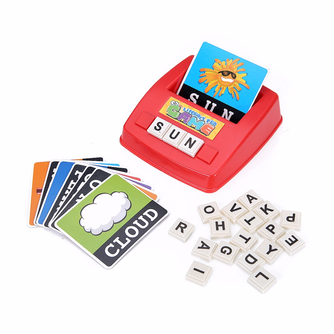 New Children English Spelling Alphabet Letter Game Early Learning Educational Toy Gift Kids Language teaching Random Color