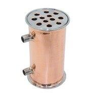4102mm OD119mm Copper Condenser, Dephlegmator, Reflux, Distiller Condenser. 200mm, 12 pipes . Copper 99,99%