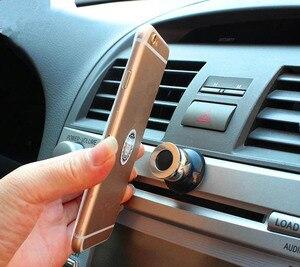 Image 2 - 360 stopni uniwersalny uchwyt samochodowy telefon magnetyczny telefon komórkowy Air Vent góra akcesoria do telefonów komórkowych stojak GPS wsparcie dla Samsung