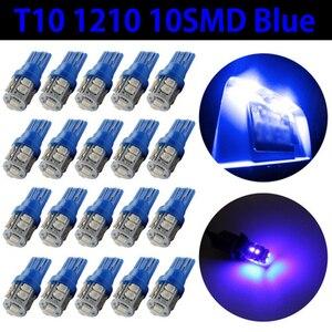 Image 4 - 20 PCS סופר בהיר כחול 12V Led Blulbs עבור מכוניות טריז 10 SMD כיפת מפת מטענים פנים אור מנורת איתות אביזרי רכב
