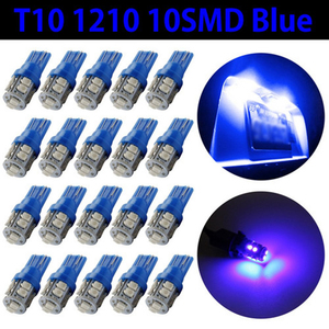 Image 4 - 20 PCS Super Bright Blue 12V Led Blulbs For Cars Wedge 10 SMD Dome Map Cargo Interior Light Signal lamp Car Accessories