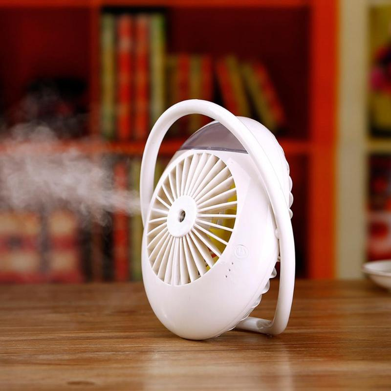 USB Fan Cooler Mini Rechargeable Desktop Cooling Fan Mist Spray Humidifier Potable Air Cooling Conditioner Machine Home Office mini water mist fan usb water spray cooling fan small portable air conditioner humidification cooling fan for office and home