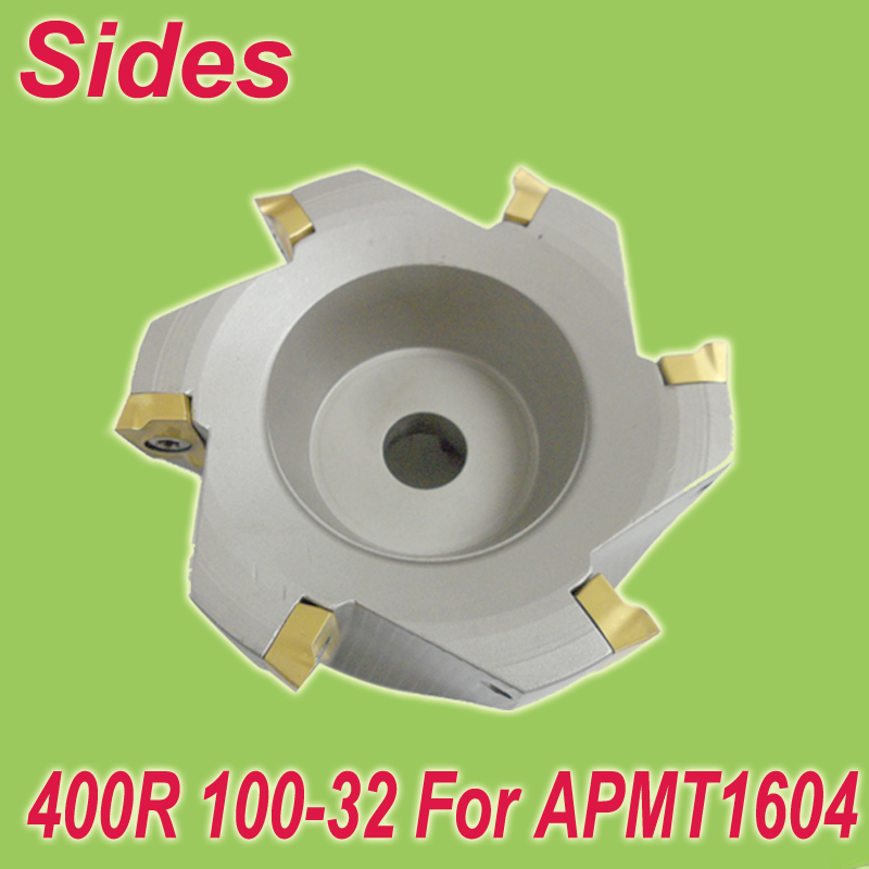 Free Shiping  400R 100-32-5T 90 Degree Right Angle Shoulder Face Mill Head for APMT1604