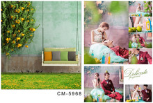 Photographic Backdrops 5×7 Swing Chair Green Trees Wedding Photo Shoots Professional Backdrop for Studio Custom Camera Backdrop