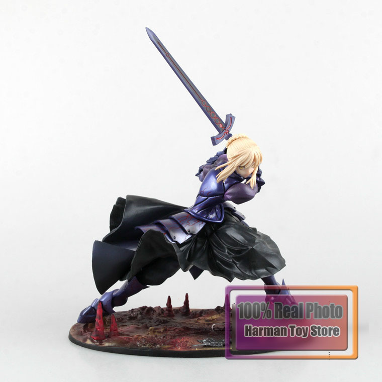 19cm Japanese anime figure Anime Fate/stay night Black Saber PVC Action Figure Collection Model Toy huong anime figure 26 cm fate stay night saber fate zero with light pvc action figure collection model toy