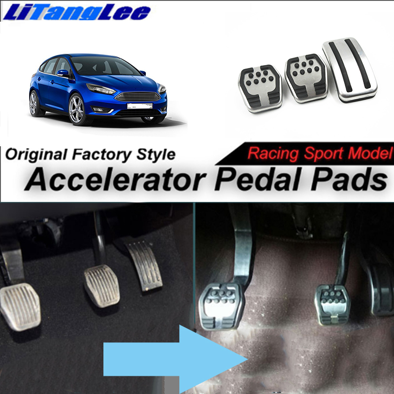 LitangLee housse de protection de pédale d'accélérateur de voiture housse de pédale d'accélérateur de pied modèle de course de Sport pour Ford pour Focus MK3 2011 ~ 2018 MT