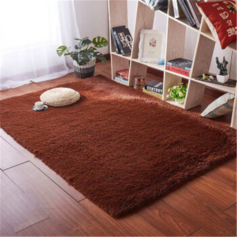Top Selling Long Hair Silk Carpet Living Room Coffee Table Blanket Bedroom Bedside Mat Thickened Washed Silk Hair Non-slip Rug