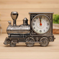 Restoring Ancient Family Clocks Desk Decoration Mechanical Alarm Clock Creative Classic Train Locomotive Bedroom For Kids