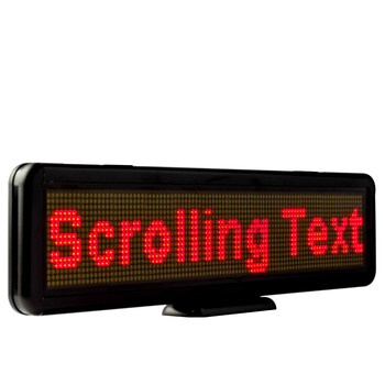110V-220V LED Scrolling Display Board Programmable Built-in battery Sign support any languages-Red message support any languages