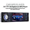 Jogador MP5 carro Entrada Aux Stereo Radio Audio Player Receptor FM com SD/Usb Display LCD de 3.6 polegadas