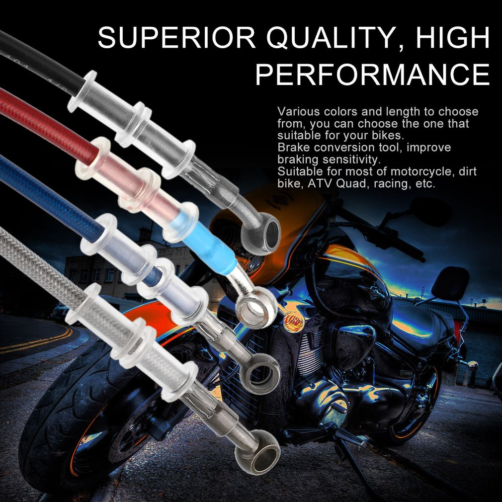Universal Motorcycle Brake Pipe Braided Steel Hydraulic Reinforce Brake Clutch Oil Hose Line Pipe Tube for Racing Dirt Bike