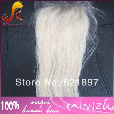 #613 blonde brazilian hair lace closure piece
