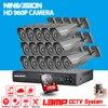 16pcs 1 0MP HD1200TVL Security Bullet Camera CCTV System Kit 16channel AHD Full 720P Video Surveillance