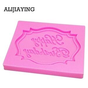 Image 2 - M0070 Felice Compleanno Lettera forma in silicone della muffa del cioccolato fondente Attrezzi della decorazione della torta del bigné della muffa