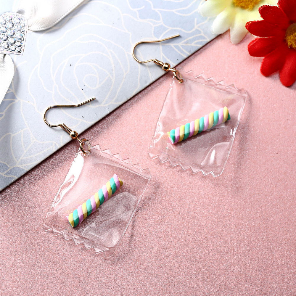 Hot Korean Fun fruit Color Transparent Dangle Earrings Fashion Drop Earring For Women new year gift Valentines Day present