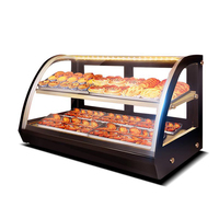 Commercial Food Thermal Insulation Cabinet Double layer Food Showcase 220V Food Heat Preservation Case LC 900A