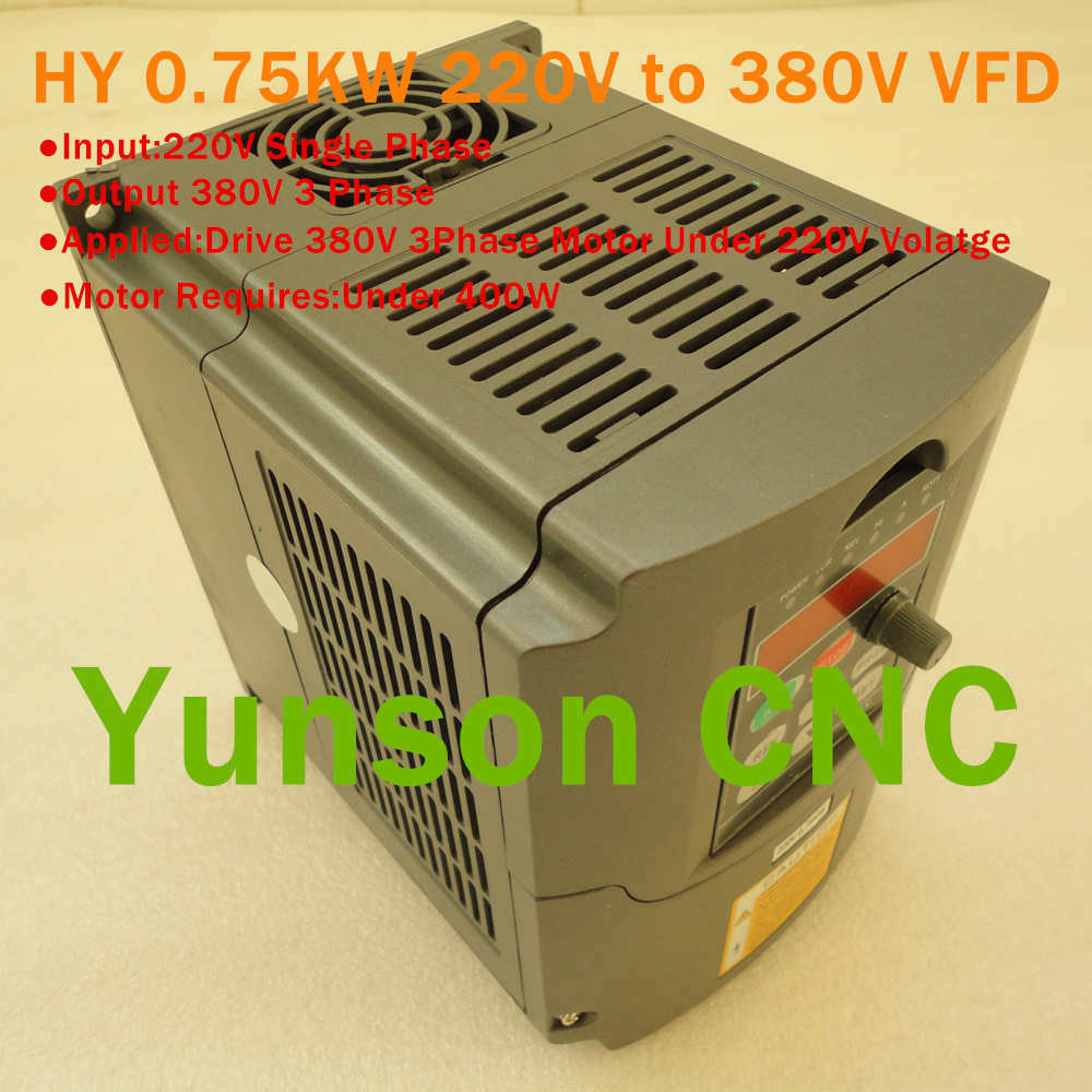 Huanyang 750w 1hp 2a variable frequency drive vfd for 3 phase vfd single phase motor