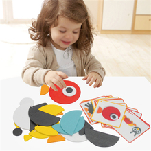 MINOCOOL Children's Wood DIY Creative Puzzle Innovative Combined Puzzle Toys For Baby early childhood teaching