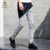 Fanzhuan Free Shipping Men S Male Fashion Casual 2017 New Jeans Pants Personality Trousers Man Spliced