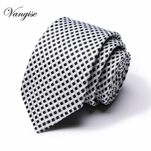 Men Wedding Floral Ties for Blue black white Dots silk  Narrow Tie Skinny Cravat Winter Party Tien