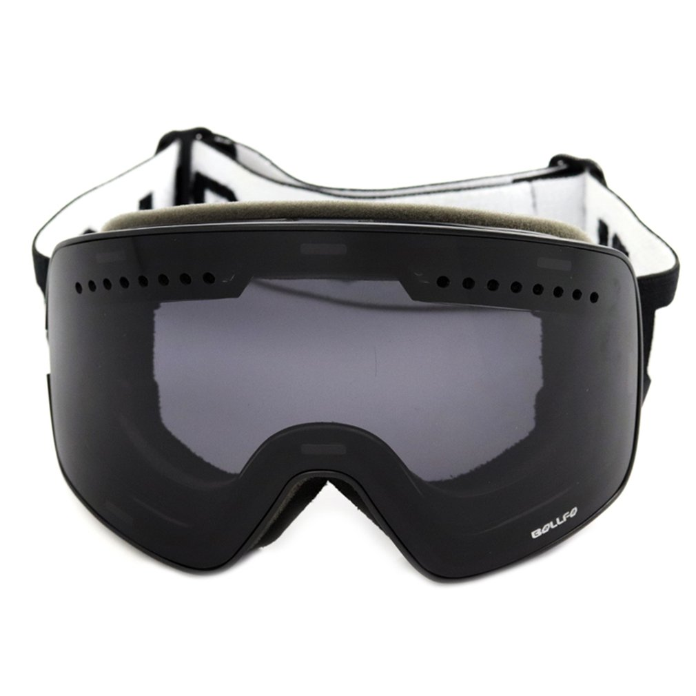 Cylindrical Magnetic Double-layer Anti Fog Durable Outdoor Skiing Glasses