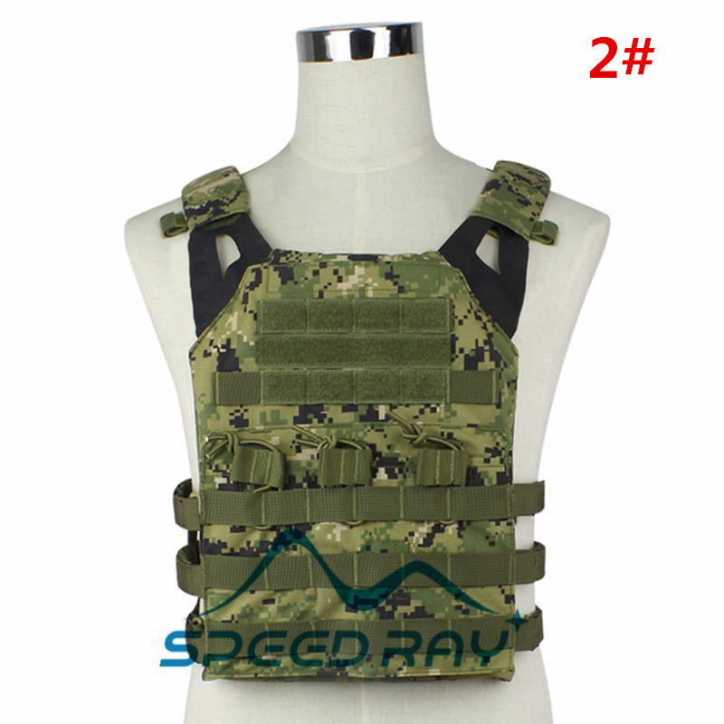 High quality Airsoft  JPC Tactical Vest Simplified Version Multicam Tactical Adjustable Army Combat Gear 11 color Available