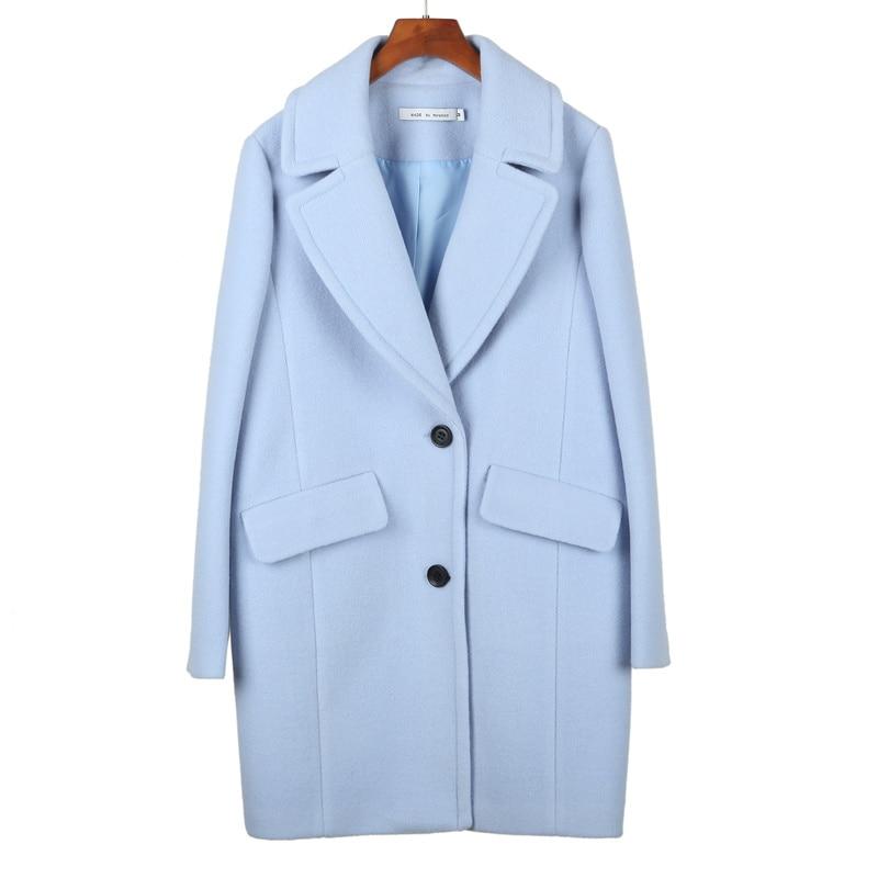 Pale Blue Wool Coat Coat Nj